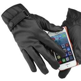 $enCountryForm.capitalKeyWord NZ - Men All Finger Drive Touch Screen Gloves for phone Brand Full Palm Touch Screen Ultra Soft Leather Warm Running Gloves