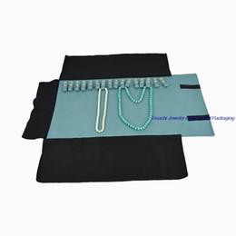 $enCountryForm.capitalKeyWord Canada - Portable Black Velvet New Year Gift Packaging Organizer Necklace Storage Holder Case Jewelry Roll Bag for Chain Bracelet 16pcs