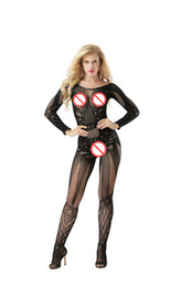 8ae926a8a13 Sexy Sheer Sleepwear Lingerie Babydoll BODYSUIT Mesh Body Stocking Intimate  Catsuit baby doll Bodysuits long sleeve