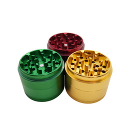 tobacco grinder aluminum UK - 55mm 4 Layers Aluminum Alloy Herb Grinder Tobacco Grinder With Multiple Colour For Smoking Use Free Shipping