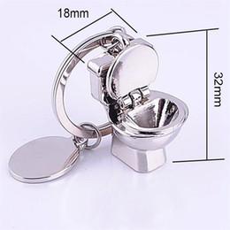 2016 new design mini cute bathroom closestool key ring mini chain keychain creative hot sell free shipping