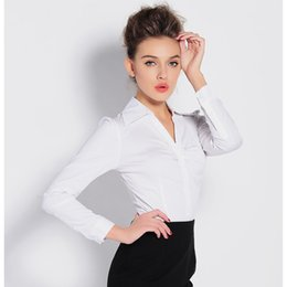 $enCountryForm.capitalKeyWord Canada - Women's Body Shirt Blouses 2017 Women Shirts Blusa Tops Long Sleeve Bodysuit White Blue Office Work Wear Clothes