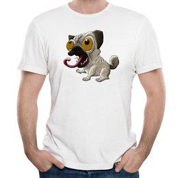 Pug Print Shirt Canada - 3D Print Pal T-shirts Funny Puppy On Men's Summer Clothes Short-Sleeved Tee For Campus Guys Unique Design New School Pug