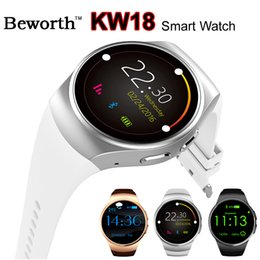 Bluetooth Smart Watch Sim Australia - KW18 Smart Watch Phone Bluetooth Smartwatch Men Women Heart Rate Monitor Sports Wrist Watches Support SIM TF Fitness Tracker for Android IOS