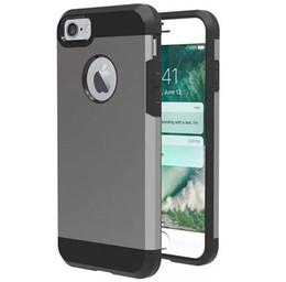 Großhandel . Für iPhone 7 Fall Note 7 Fall V-ERUS für iPhone 6 Fall Gebürstetes Metall VERGE Zweischichtiger Anti-Schock-Koffer Fall Stoßfest BackCover Opp Bag