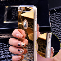 Wholesale iphone8 cases for sale - Group buy For iPhone8 Mirror Electroplating Case Soft Clear TPU Shockproof Protective Cover For iPhone S Plus s SE Sumsung S8 S7 Plus Note8