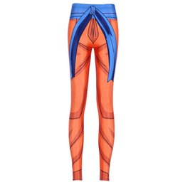 Pantalon Super Sexy Pas Cher-Vente en gros- New Arrival 3750 Sexy Girl Dragon Ball Super Son Goku Cosplay imprimé Élastique Fitness Polyester Workout Femme Leggings Pantalons