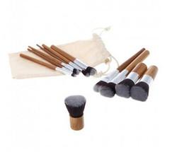 Chinese  11 pcs Professional Make Up Tools Pincel Maquiagem Wood Handle Makeup Cosmetic Eyeshadow Foundation Concealer Brush Set Kit D649 manufacturers