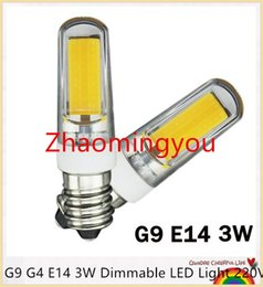 Replace Spotlight Bulb NZ - G9 G4 E14 3W Dimmable LED Light 220V LED Lamp 2609SMD COB Spotlight Bulb Lamp 360 Beam Angle Chandelier Lights Replace Halogen