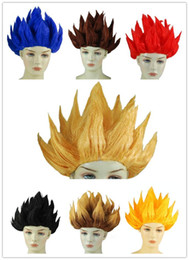 Costumes De Dragon Ball Cosplay Pas Cher-Wukong Seven Dragon Wig Japan Dragonball Wukong Halloween Party Dragon Ball Z GoKu Cosplay Costume Enfants Perruque Adulte 6 Couleurs