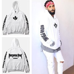 tyga pullover NZ - Purpose Tour Hoodies Men Justin Bieber Purpose Tour Hoodie Kanye Streetwear Sweatshirts Men Swag Tyga Hoodie