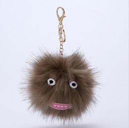 Car Ball Games UK - The new cute cartoon dolls ball hat plush key chain car key ring girl fashion jewelry bags Hip-hop style