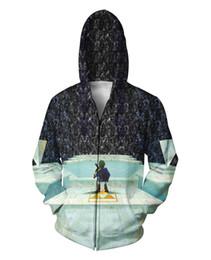 Chinese  Wholesale-Harajuku Jumper Women Men 3d Sweats Sweatshirts Zelda Great Fairy Fountain Zip-Up Hoodie Casual Sport Tops Outerwear Coats manufacturers