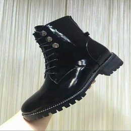 $enCountryForm.capitalKeyWord Canada - fashion Luxury women genuine leather snow boots women ankle boots Comfortable warm winter Flat shoes woman Lace-up rivets motorcycle boots