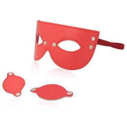 Masques De Cuir Sexy Des Yeux Bandés Pas Cher-PU cuir sexy bandeau yeux masques Sex Games Masques pour les yeux Unisexe Taille réglable Light Weight eye patch