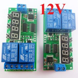 $enCountryForm.capitalKeyWord Canada - 2pcs DC 12V 2CH Delay Relay Cycle Timer Switch Module 1-9999s for Motor LED Smart Home