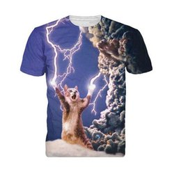 Chinese  Summer 3D T Shirt Men Women Short Sleeve Fashion Thundercat T-Shirt Fearless Cat Playing With Lightning Harajuku Tees Tops manufacturers