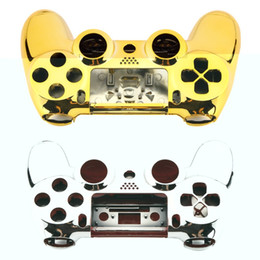 Playstation controller covers online shopping - Full Housing Shell Case Skin Cover Button Set with Full Buttons Mod Kit Replacement For Playstation PS4 Controller Gold Sliver