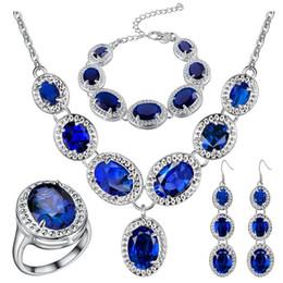 $enCountryForm.capitalKeyWord NZ - 925 sterling silver jewelry diamond jewelry sets Green Sky blue colour Bracelet Earrings Necklace factory wholesale best price