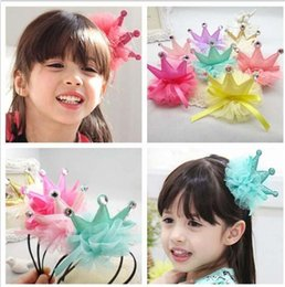 las pinzas de pelo de la muchacha de los nios accesorios de nios princesa arcos de la flor del pelo de de corea corona adornos para el cabello del