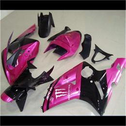 Kawasaki Ninja ZX6R 2003 2004 Bodywork Fairing Set Zx6r 03 04 Molded 100 Kit For High In ABS Pink Red Black