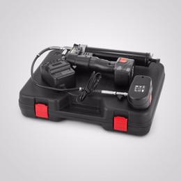 Fully automated 18 Volt cordless Grease Gun Kit Machine Greasing Gun 18V Manual Bulk Fill 2pcs Battery on Sale