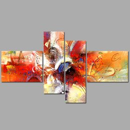 colorful figure Australia - Fashion New Colorful 4 pcs Abstract painting house ornaments Decoration Canvas Painting on wall art pictures home decor unframed