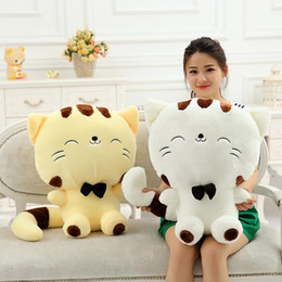 Discount girl big bear toy - New Lovely Big Face Smiling Cat Stuffed Plush Toys Brinquedos Best Gifts for Kids High Quality