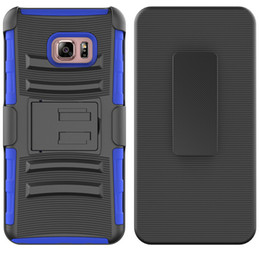 Wholesale For Samsung Galaxy S7 Edge Samsung S6 Edge S9 Plus S5 S4 Durable Back Cover Combo Holster Belt Clip Kickstand Hybrid Defender Armor Case