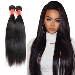Brazilian Remy Hair Weave Bundles Canada - Brazilian straight Hair Weaves Remy Human Hair Extensions Malaysian Indian Peruvian Hair Bundles Unprocessed Virgin Hair Weft 4pcs