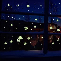 $enCountryForm.capitalKeyWord Canada - Glow in the Dark Little Sheep Cupid Cosmic Meteor Shower Wall Stickers Luminous Wall Decals Window Glass Bedroom Living Room Wall Applique