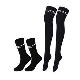 $enCountryForm.capitalKeyWord UK - Vetements Over Knee Stocking Cotton Black Striped Socks Teenager Students Girls Hip Hop Overknee Letter Embroidery Leg Warmer Long Socks