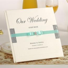 Envío gratis hechos a mano únicos libros de invitados de la boda / hermosos favores de la boda / libro de la firma