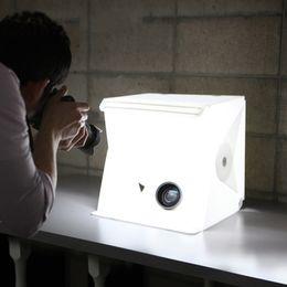 22.6 * 23 * 24 CM Mini Photo Studio Box Telón de fondo de fotografía portátil Luz incorporada Photo Box Little Items Fotografía de telón de fondo en venta