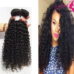 Curly Human Hair For Weaves Canada - Kinky Curly For black Women 7a Unprocessed 8-28inch 3pcs Peruvian Indian malaysian Brazilian Deep Curly Virgin Human Hair Extentions 3 4pcs