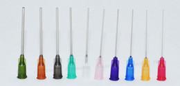 $enCountryForm.capitalKeyWord Canada - wholesale 14G-25G W  ISO standard Dispensing needles PP luer lock hub 1.5 -inch tubing length precision S.S. dispense blunt tips10000pcs lot