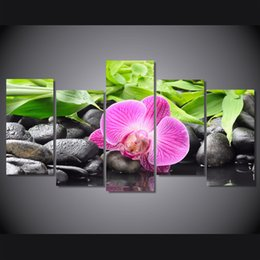 $enCountryForm.capitalKeyWord Canada - 5 Pcs Set HD Printed Pink Orchids Painting Canvas Print room decor print poster picture canvas fruits oil painting