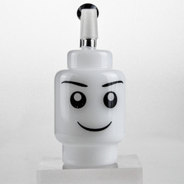 """$enCountryForm.capitalKeyWord UK - Handy Bubbler Bong 4"""" inch White Jade Smile Glass Dabber Oil Rigs Black Neck Thick Glass Rigs Water Pipes Glass Hookahs 2 Colors"""