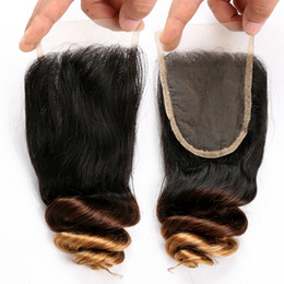 $enCountryForm.capitalKeyWord Australia - Ombre 3 Tone Brazilian Loose Wave Human Hair Lace Closure T1b 4 27 Peruvian Indian Malaysian Virgin Hair Lace Front Closure Bleached Knots