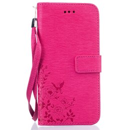 Smart Card Wallet UK - Hot Selling Wallet Case Magnetic Flip PU Leather Case with Strap Card Holder Smart Phone Stand Cover for Iphone 7 7 plus