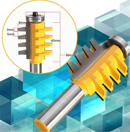 Rail Parts Canada - 1PC 1 2 inch Shank Rail and Stile Finger Joint Glue Router Bit Cone Tenon Woodwork Cutter Power Tools