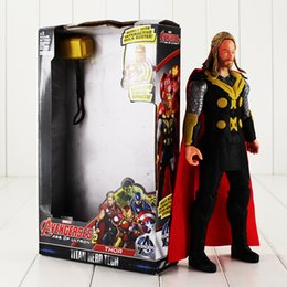 Thor Toys NZ - 30cm Thor Odinson PVC Action Figure Collectable Model toy for kids Christmas gift free shipping retail