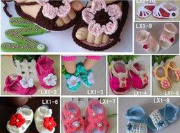 $enCountryForm.capitalKeyWord Canada - Wholesale-Handmade Baby Sandals, Crochet Toddler shoes,,Baby girl flowers Flip Flops
