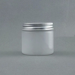 aluminum cap case 2019 - 50pcs lot 50g Frosted Plastic Cosmetic Jar Serum Bottle Aluminum Cap 50g DIY Refillable Hand Cream Case discount aluminu