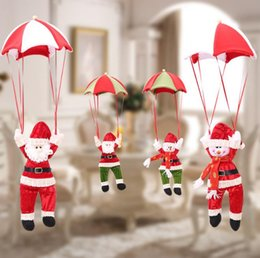 Wholesale Christmas Decoration for Home Snowman Ornament Parachute Christmas Doll Pendant New Year Decor Christmas Toys