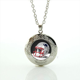 $enCountryForm.capitalKeyWord Canada - Independent original helmet design locket necklace casual team 32 sport rugby jewelry gift for men and women NF093