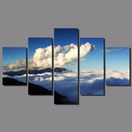 $enCountryForm.capitalKeyWord Canada - Modern Mountain Peak 5pcs set Landscape decoration Clouds sea sunset Canvas Painting wall Art living room printed decor unframed