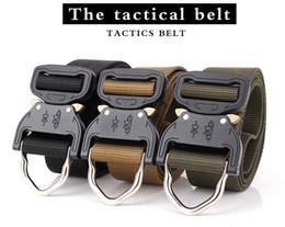 Venta al por mayor de Venta al por mayor 3.8 cm US Army Tactialcal Combat Belt SWAT Heavy Duty Knock Off Tactical Belt Hook Nylon Cinturón Cinturón envío de la gota