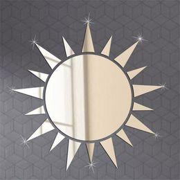 $enCountryForm.capitalKeyWord Australia - Acrylic 3D Crystal mirror wall stickers Creative Home Decor DIY sun Carved bedroom Removable Decoration Stickers 2017 19pcs set wholesale