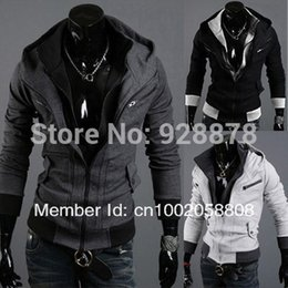 assassins creed clothing jacket Canada - Wholesale-Mens Clothing Assassins Creed 3 Desmond Miles Cosplay Costume Hoodie Coat Jacket Sweatshirt 3 Color available